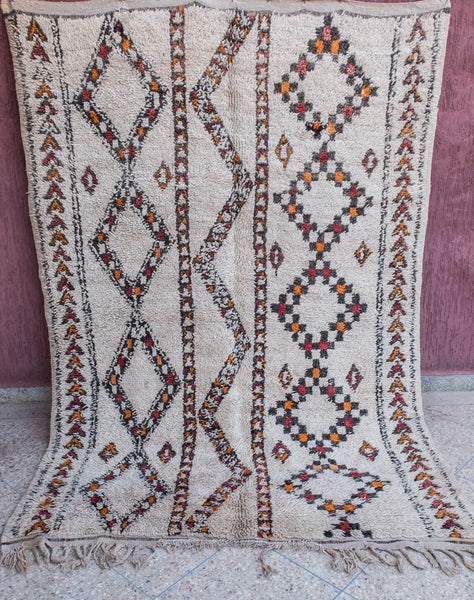 Gypsy Road - Vintage Azilal Authentic Handmade Wool Rug - Festive Season Discount -15%