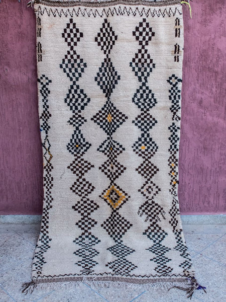Checkmate - Azilal Authentic Handmade Wool Rug - Festive Season Discount -15%