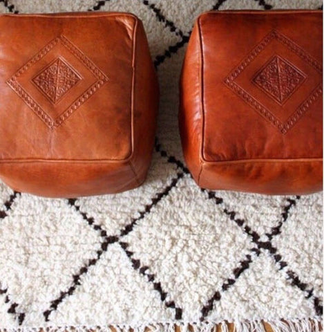 "Camel Square Moroccan Ottomans / Poufs ""Free Shipping!"""