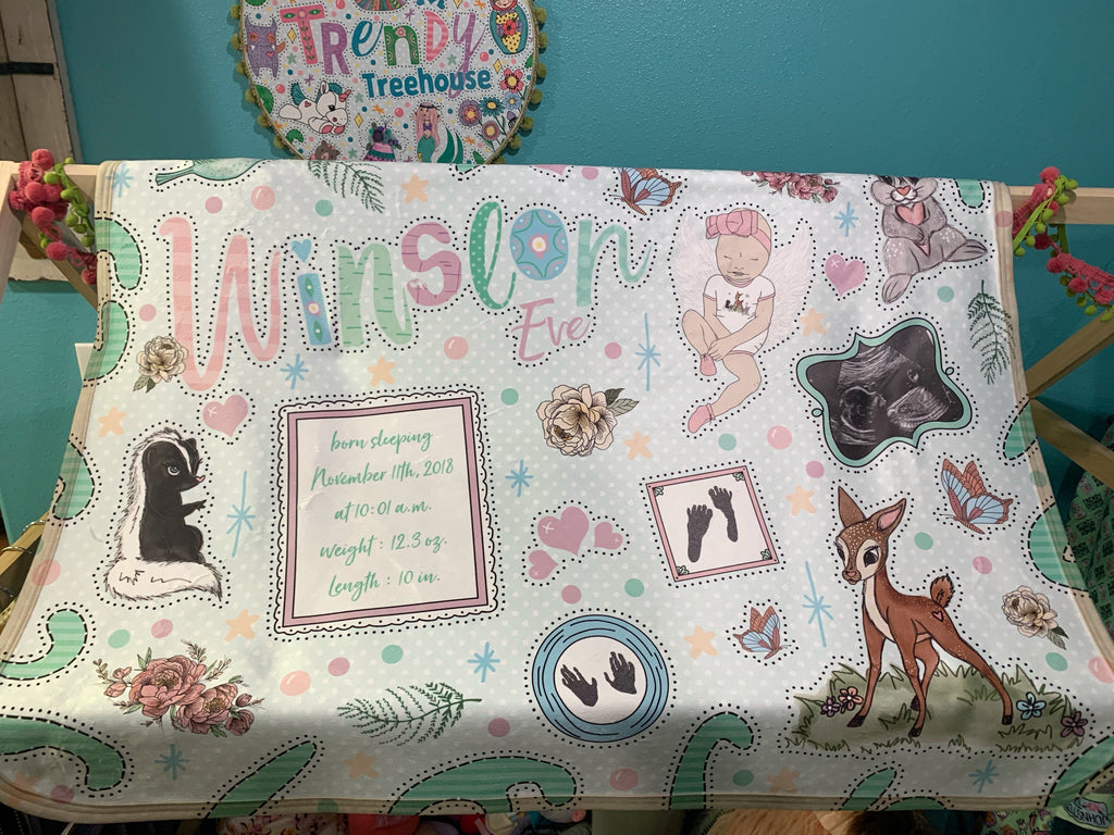 Keepsake Name Art Minky Blanket