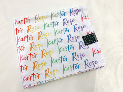 Rainbow Name Blankets & more