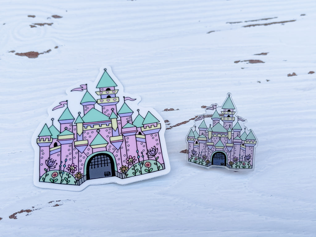 Enchanted Castle Acrylic Pin
