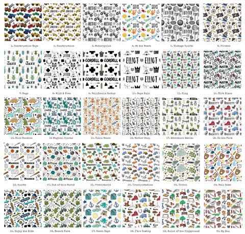 Exclusive Wrapping Paper Designs - for Boys