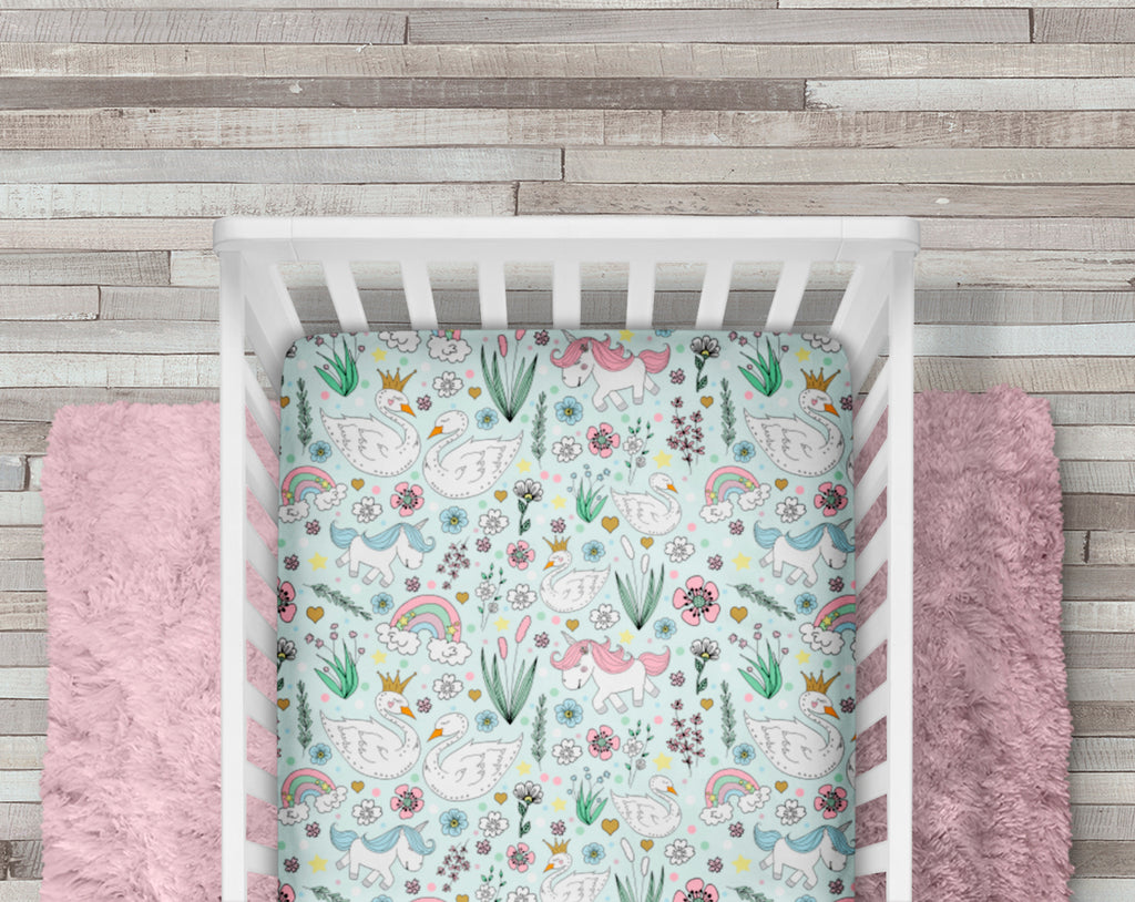 Sleepy Willow Crib Sheet