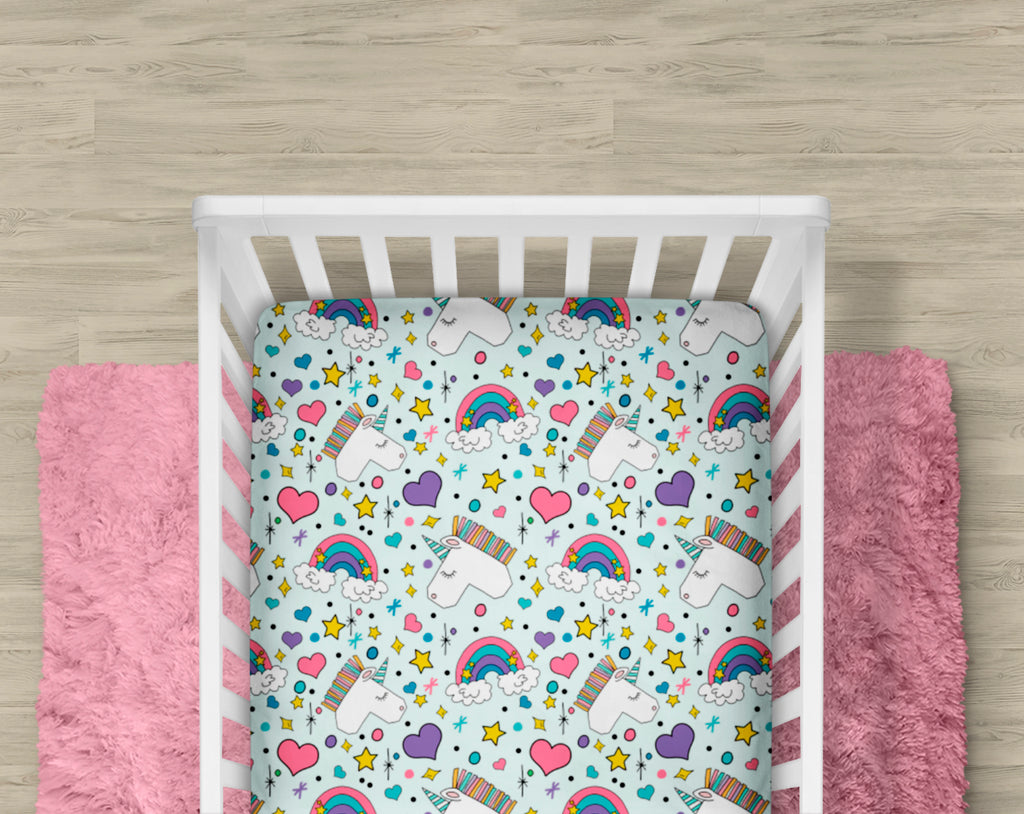 Magic Unicorn Crib Sheet