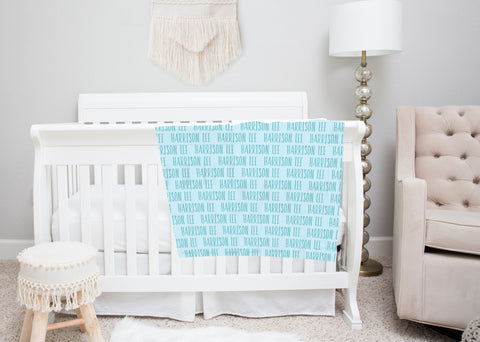 Name Swaddle Blankets for Boys