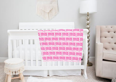 Name Tag Swaddle Blankets