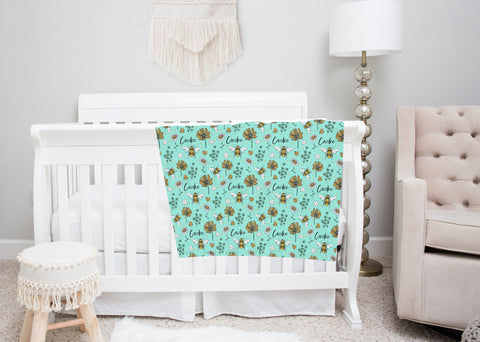 Save the Bees Swaddle Blanket