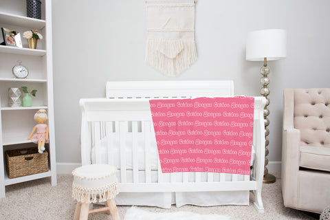 Two Tone Name Blankets