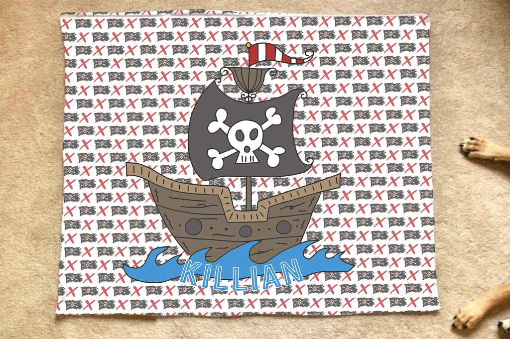 Pirate Ship Blanket