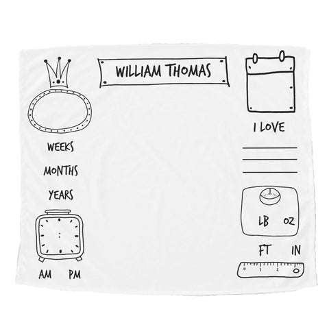 Watch Me Grow Doodle Blanket - Trendy Treehouse - 4