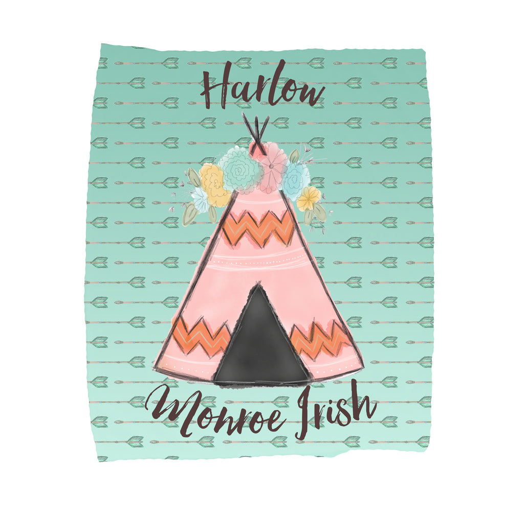 Personalized Teepee Blankets - Trendy Treehouse - 1