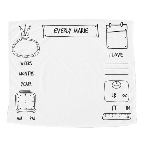 Watch Me Grow Doodle Blanket - Trendy Treehouse - 2