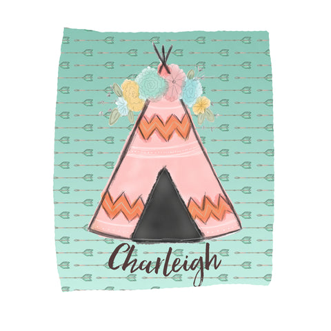Personalized Teepee Blankets - Trendy Treehouse - 2