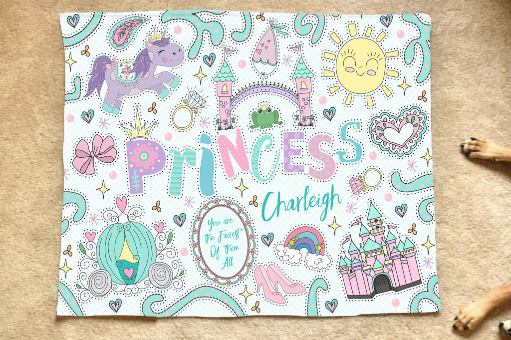 Princess Name Art Blanket