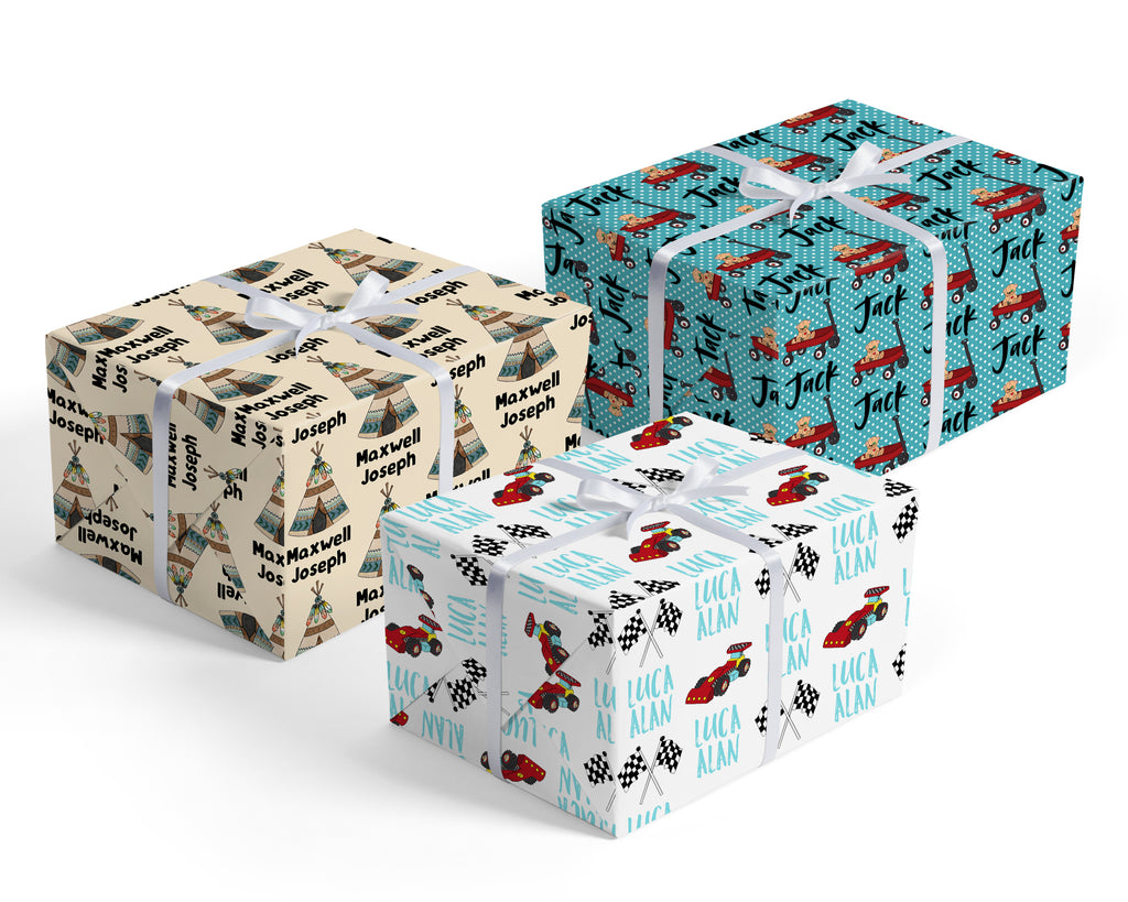 Wrapping Paper with Graphics - for Boys