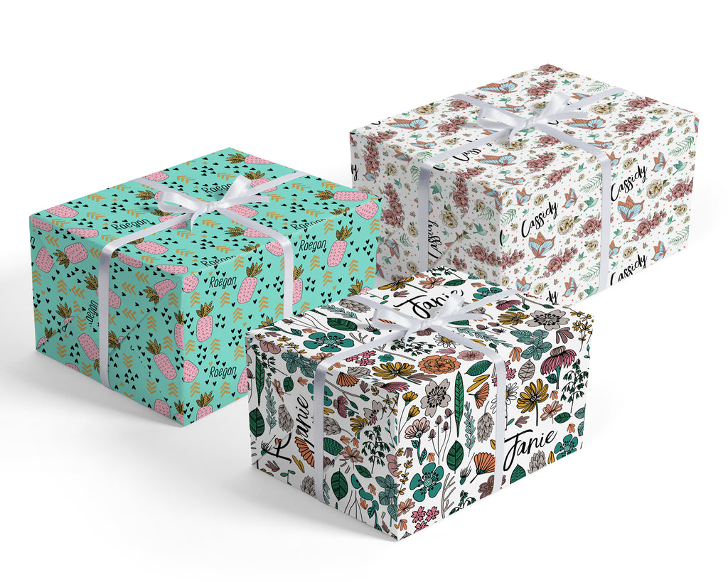 Exclusive Wrapping Paper Designs - for Girls