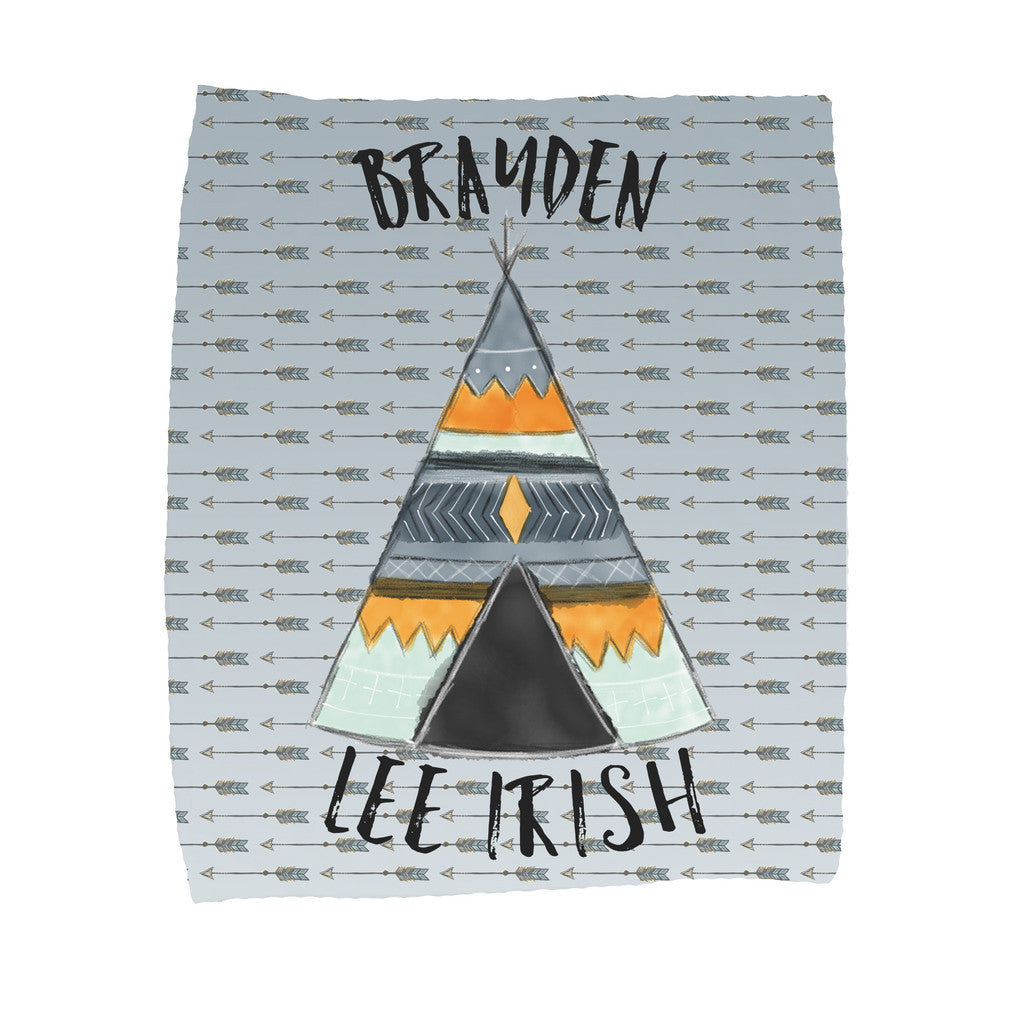 Personalized Teepee Blanket - Trendy Treehouse - 1