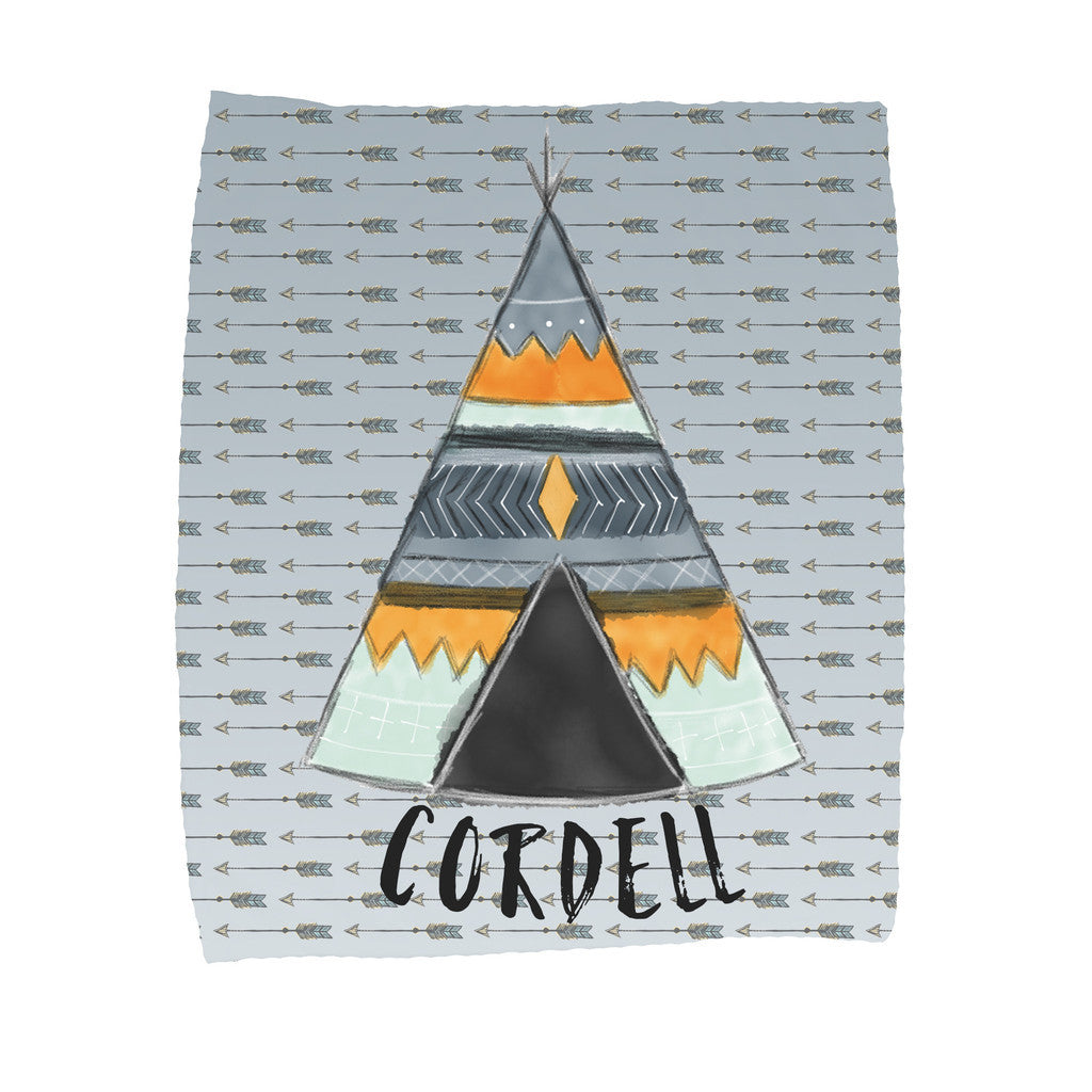 Personalized Teepee Blanket - Trendy Treehouse - 2