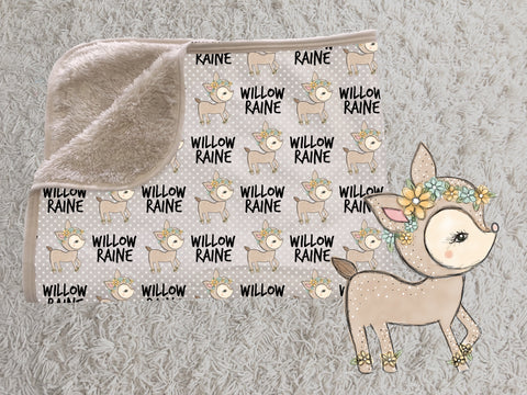 Name Blankets with Graphics - Minky - for Girls