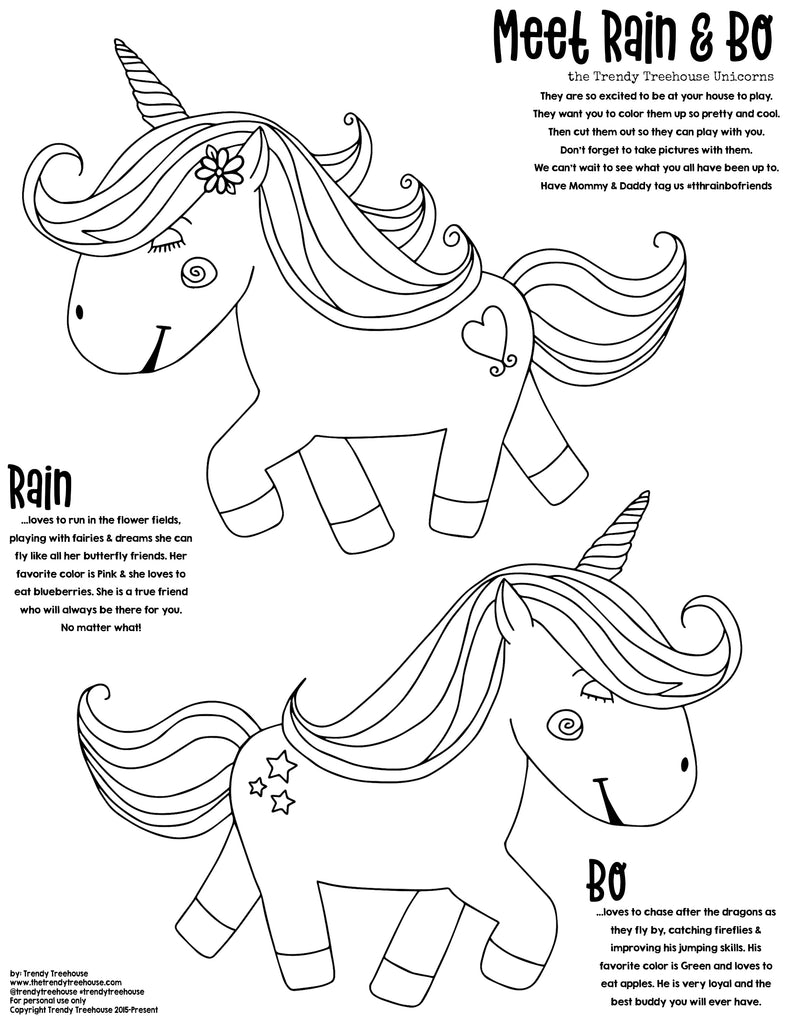 Rain Bo Unicorns- read description for details