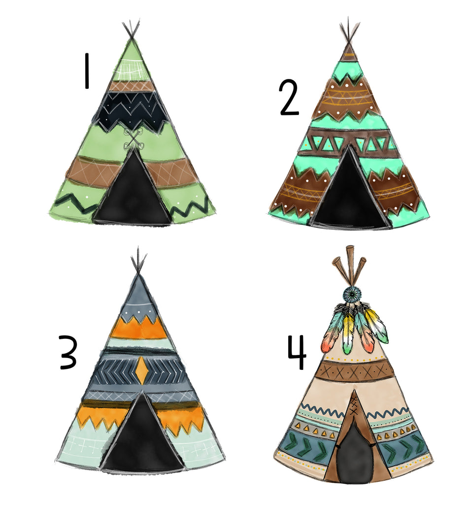 Personalized Teepee Blanket - Trendy Treehouse - 3