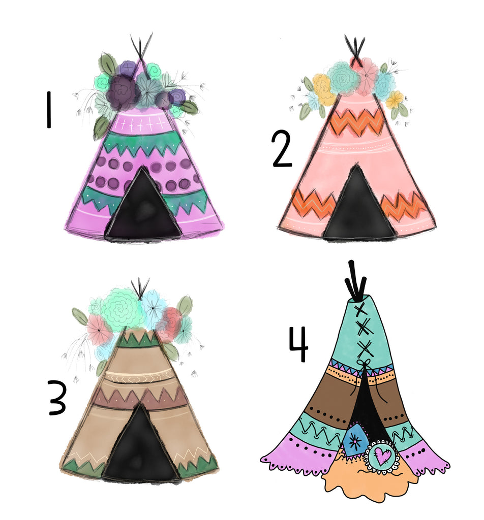 Personalized Teepee Blankets - Trendy Treehouse - 3