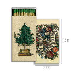 Matches - Green Holiday Tree & A Merry Christmas