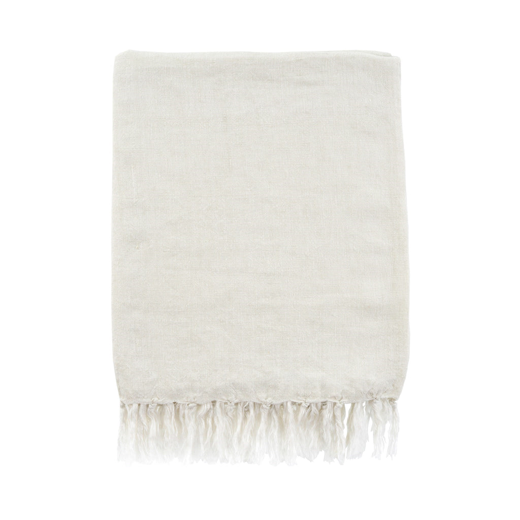 Lina Linen Throw in Natural