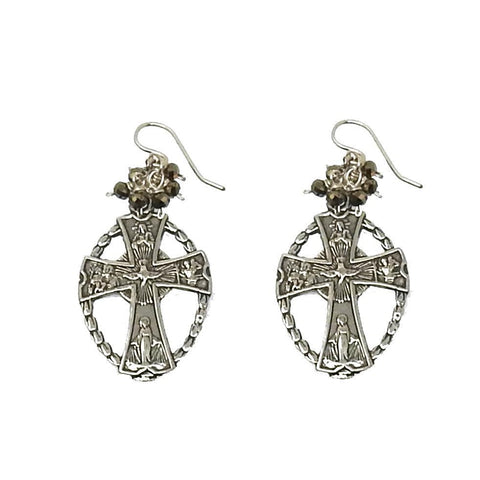 Sterling Cross Earrings