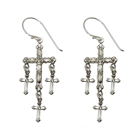 Madonna Multi Cross Earrings