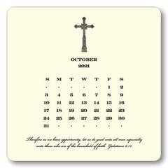 2021 Cross Calendar with Easel
