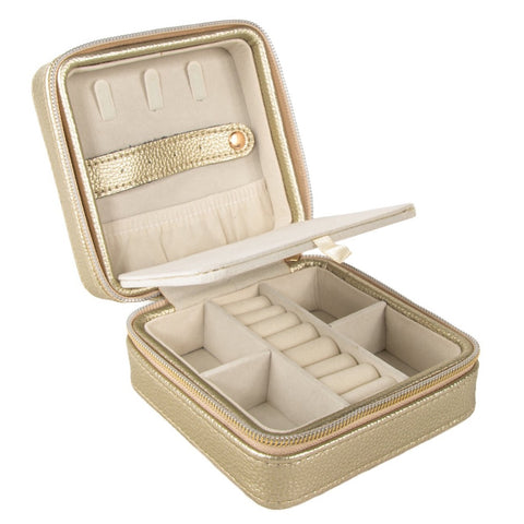 Leah Travel Jewelry Case - Gold