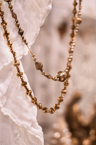 Vintage Gold Bead Garland