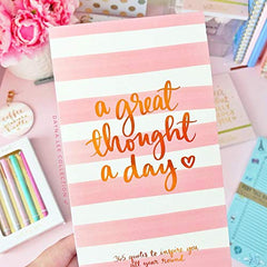 A Great Thought A Day Pad - Pink Stripes