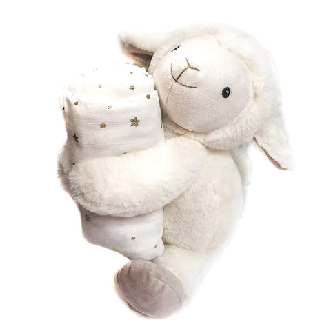 Loyal Lamb Buddie and Swaddle Blanket