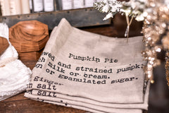 Pumpkin Pie Tea Towel
