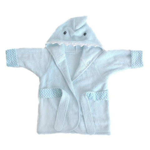 Shark Viscose Bamboo Blue Baby Robe
