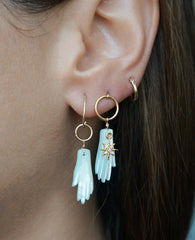 Manos Gold Earrings