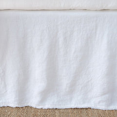 Austin King Bed Skirt in White from Bella Notte Linens