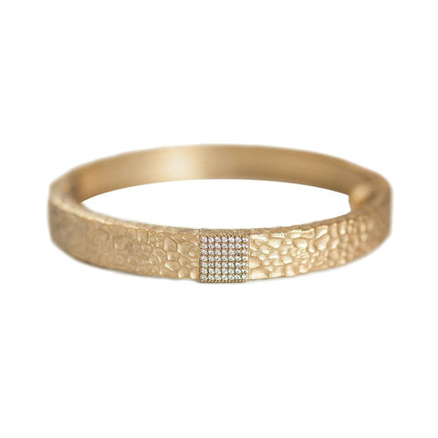 Gold Artís Pavé Square Bangle