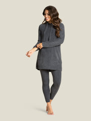 CozyChic Lite Women's Hooded Ribbed Tunic