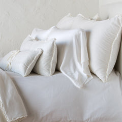 Carmen Royal Sham - Winter White