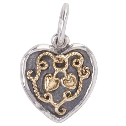 Evertied Heart Charm