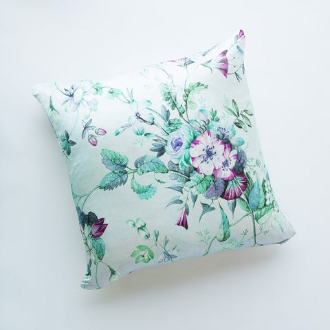 Fleur Square Throw Pillow - Cool