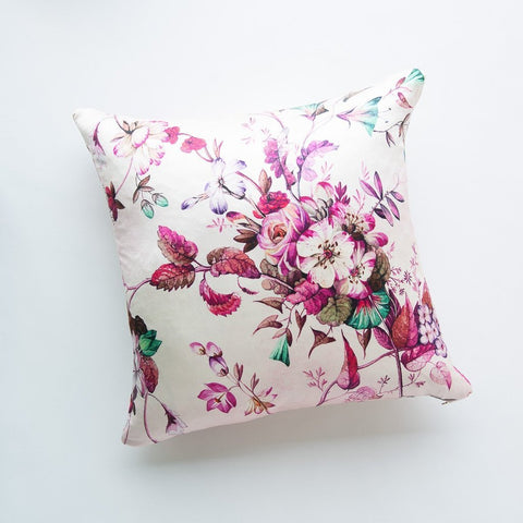 Fleur Square Throw Pillow - Warm