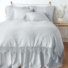 Frida Standard Pillowcase in Sterling from Bella Notte Linens