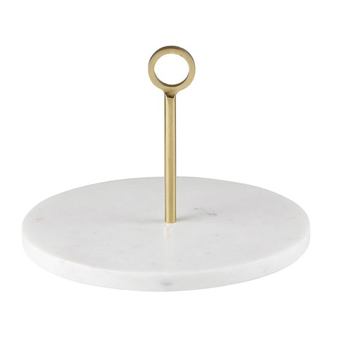 Marble Server with Brass Handle