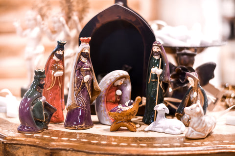 Ceramic Nativity - Set of 9