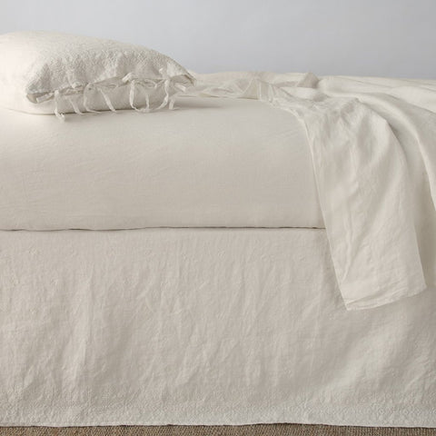 Ines Bed Skirt - Parchment - Queen